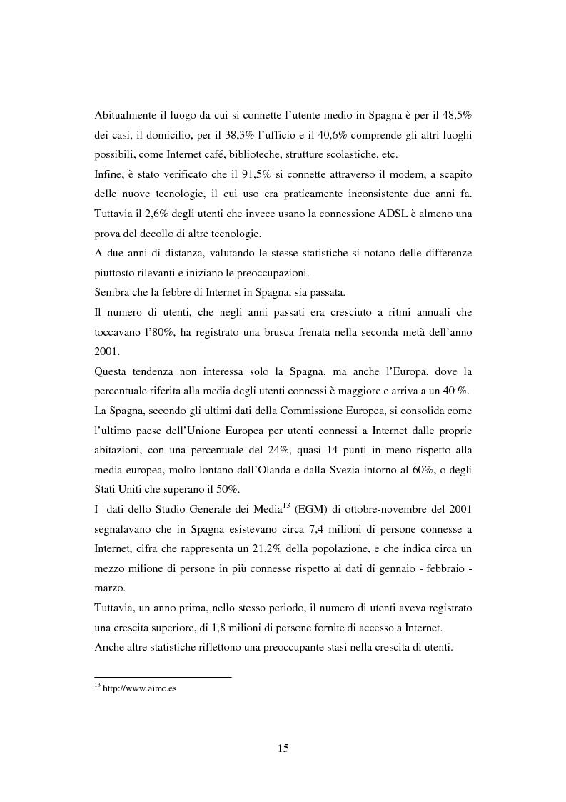 Anteprima della tesi: Quotidiani on-line in Spagna: analisi e confronti, Pagina 15