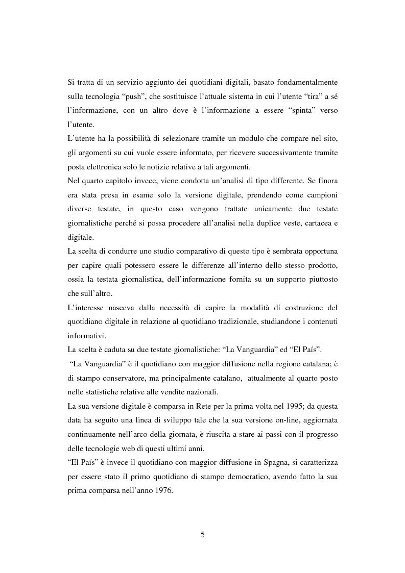 Anteprima della tesi: Quotidiani on-line in Spagna: analisi e confronti, Pagina 5