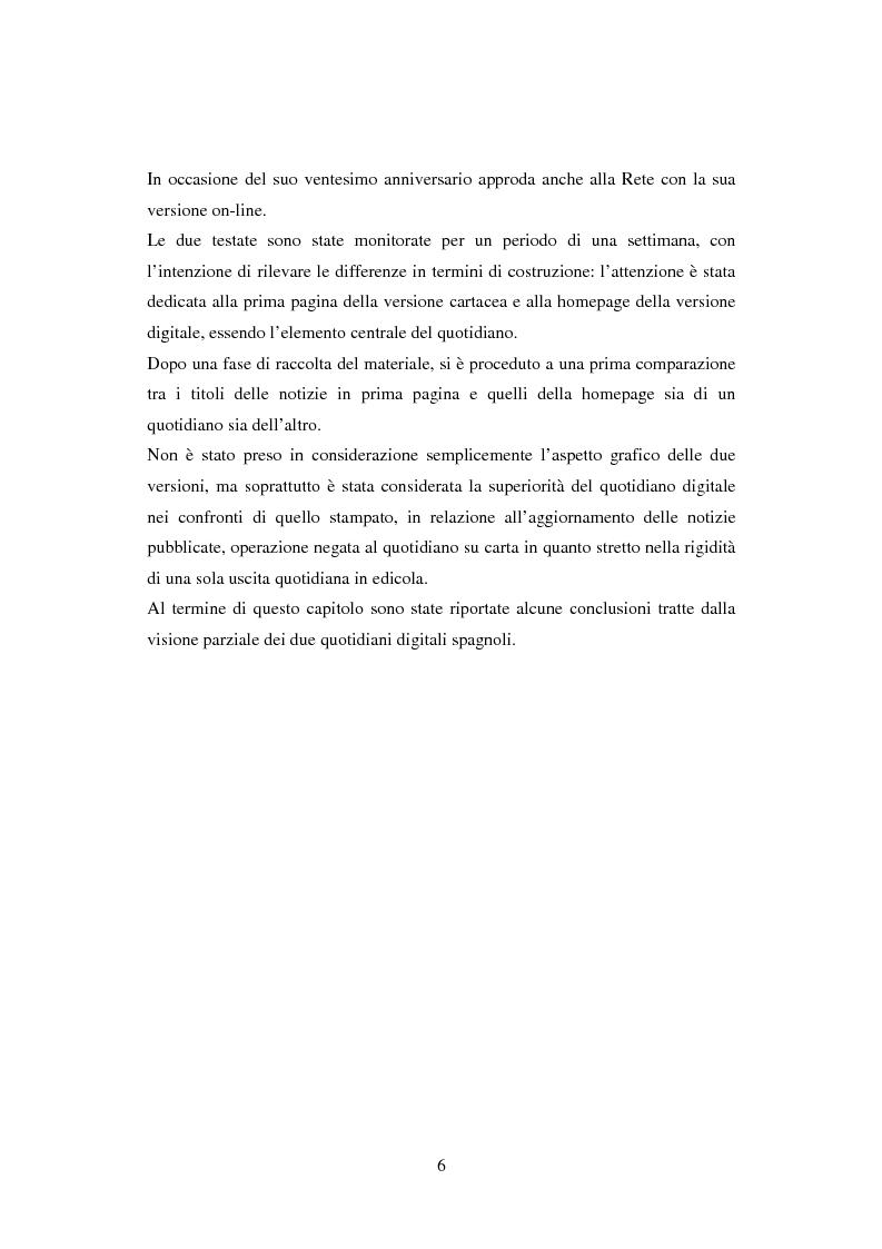 Anteprima della tesi: Quotidiani on-line in Spagna: analisi e confronti, Pagina 6