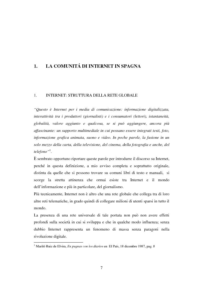 Anteprima della tesi: Quotidiani on-line in Spagna: analisi e confronti, Pagina 7