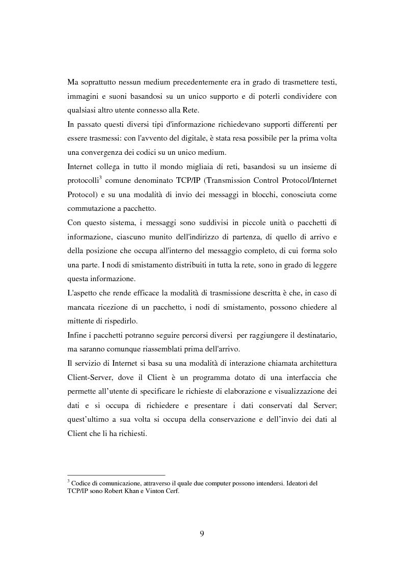 Anteprima della tesi: Quotidiani on-line in Spagna: analisi e confronti, Pagina 9