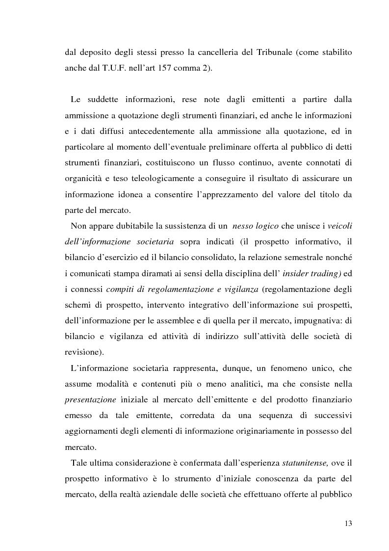 Anteprima della tesi: L'informazione societaria come veicolo del valore aziendale, Pagina 10