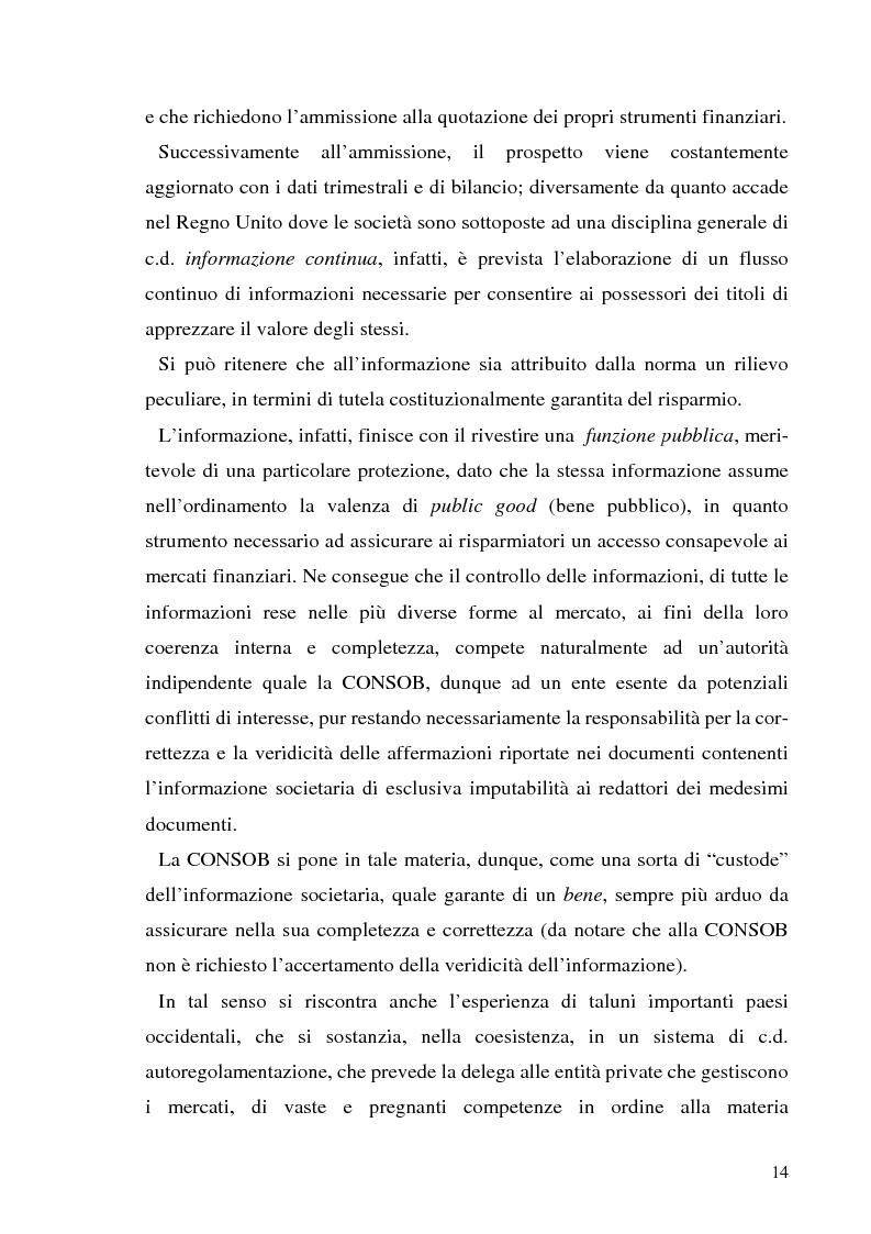 Anteprima della tesi: L'informazione societaria come veicolo del valore aziendale, Pagina 11