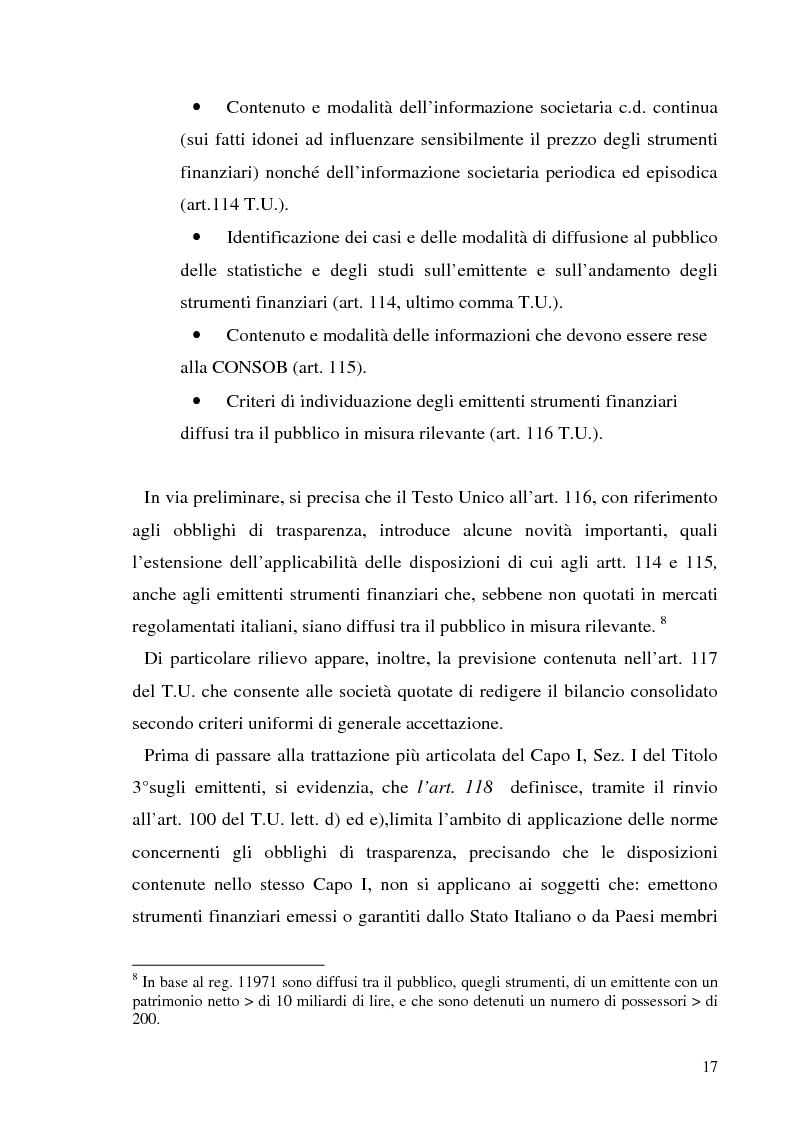 Anteprima della tesi: L'informazione societaria come veicolo del valore aziendale, Pagina 14