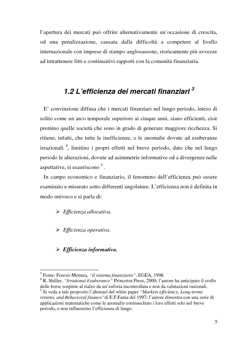 Anteprima della tesi: L'informazione societaria come veicolo del valore aziendale, Pagina 2