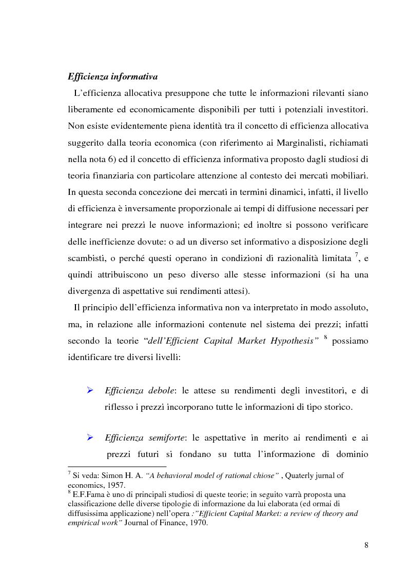 Anteprima della tesi: L'informazione societaria come veicolo del valore aziendale, Pagina 5