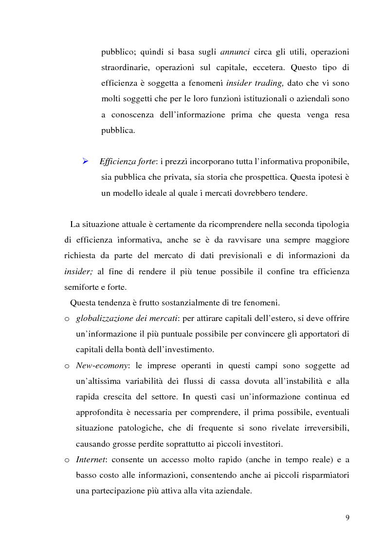Anteprima della tesi: L'informazione societaria come veicolo del valore aziendale, Pagina 6