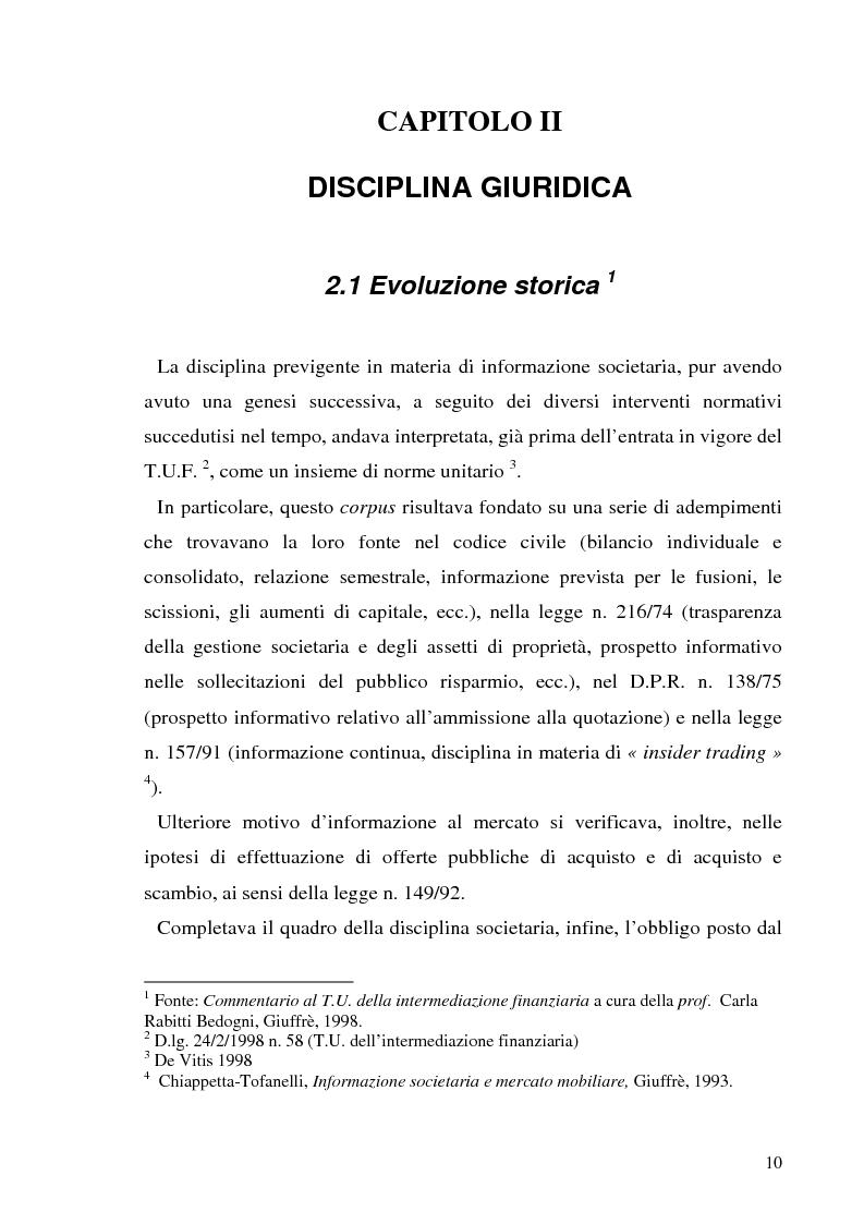 Anteprima della tesi: L'informazione societaria come veicolo del valore aziendale, Pagina 7