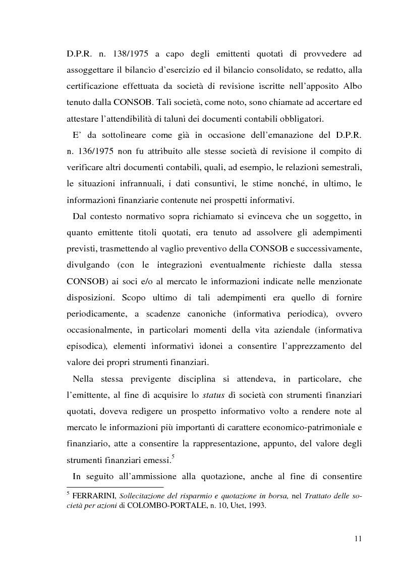 Anteprima della tesi: L'informazione societaria come veicolo del valore aziendale, Pagina 8