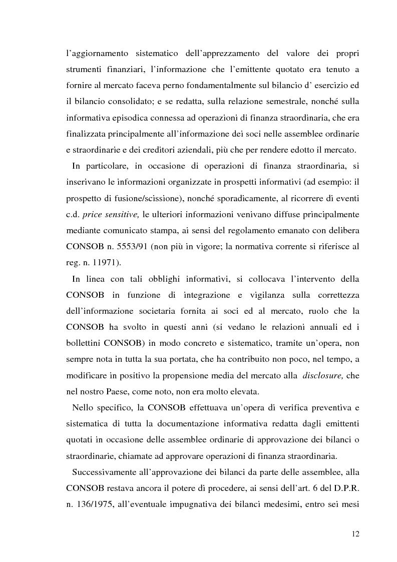 Anteprima della tesi: L'informazione societaria come veicolo del valore aziendale, Pagina 9