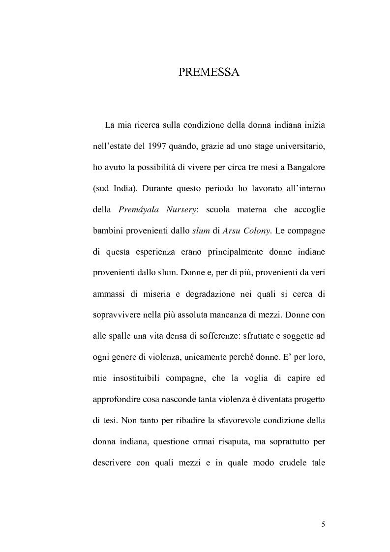 Anteprima della tesi: Ritualità e condizione sociale della donna in India, Pagina 1