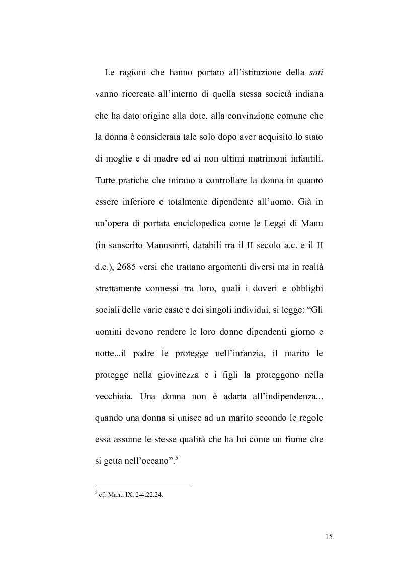 Anteprima della tesi: Ritualità e condizione sociale della donna in India, Pagina 11