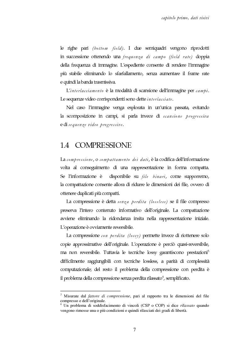 Anteprima della tesi: Codifica e decodifica di oggetti visivi nello standard MPEG-4, Pagina 7