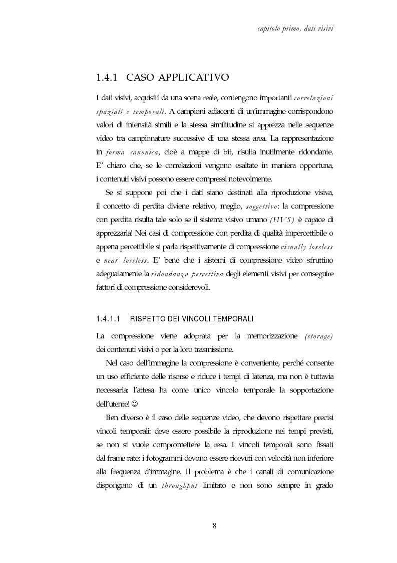 Anteprima della tesi: Codifica e decodifica di oggetti visivi nello standard MPEG-4, Pagina 8