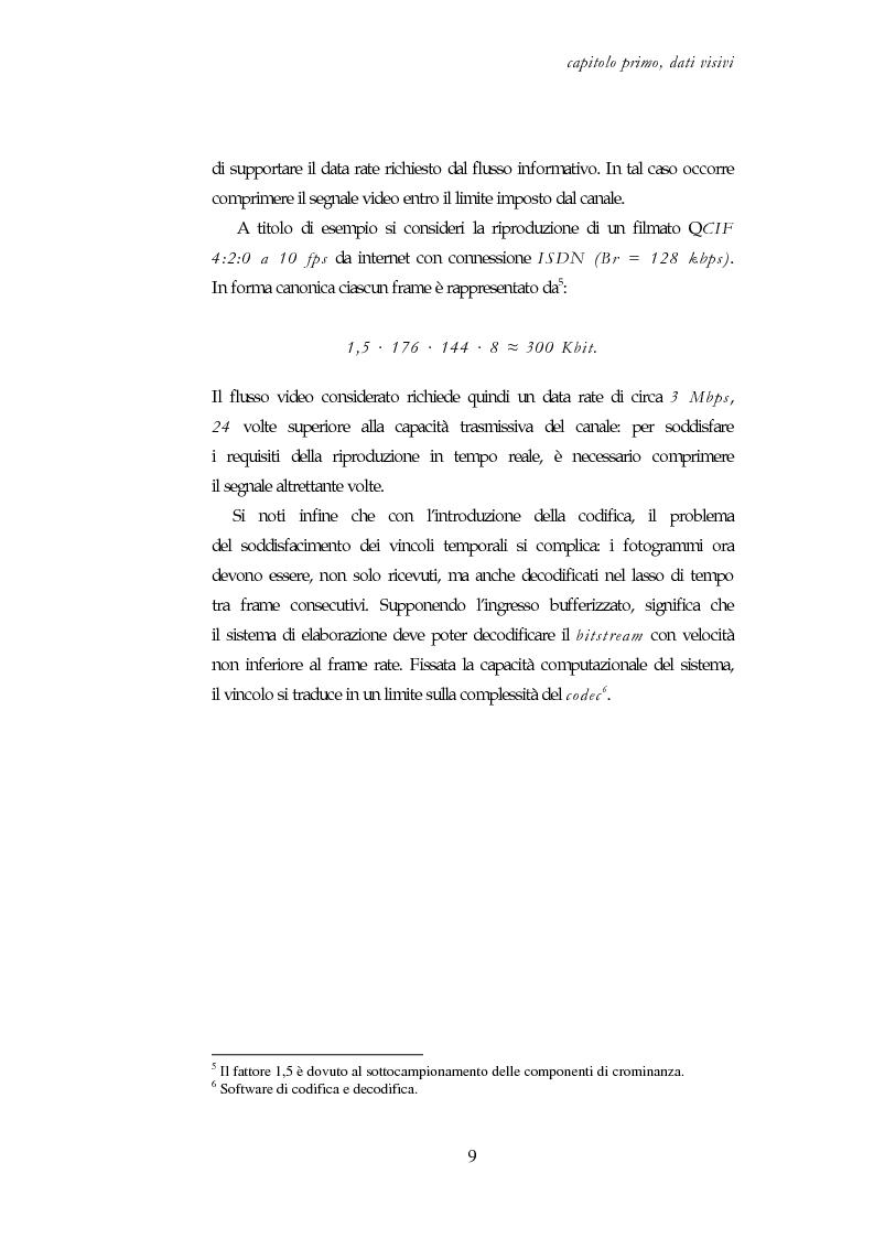 Anteprima della tesi: Codifica e decodifica di oggetti visivi nello standard MPEG-4, Pagina 9