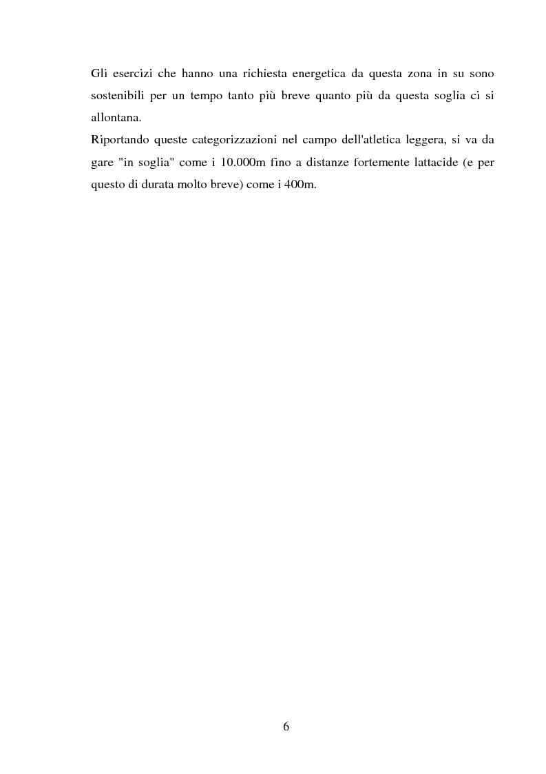 Anteprima della tesi: Il follow-up pluriennale delle caratteristiche fisiologiche in un soggetto in atletica leggera, Pagina 6