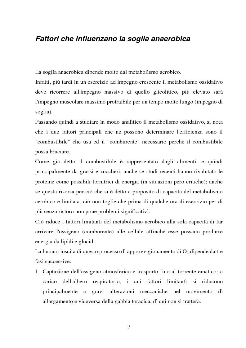 Anteprima della tesi: Il follow-up pluriennale delle caratteristiche fisiologiche in un soggetto in atletica leggera, Pagina 7
