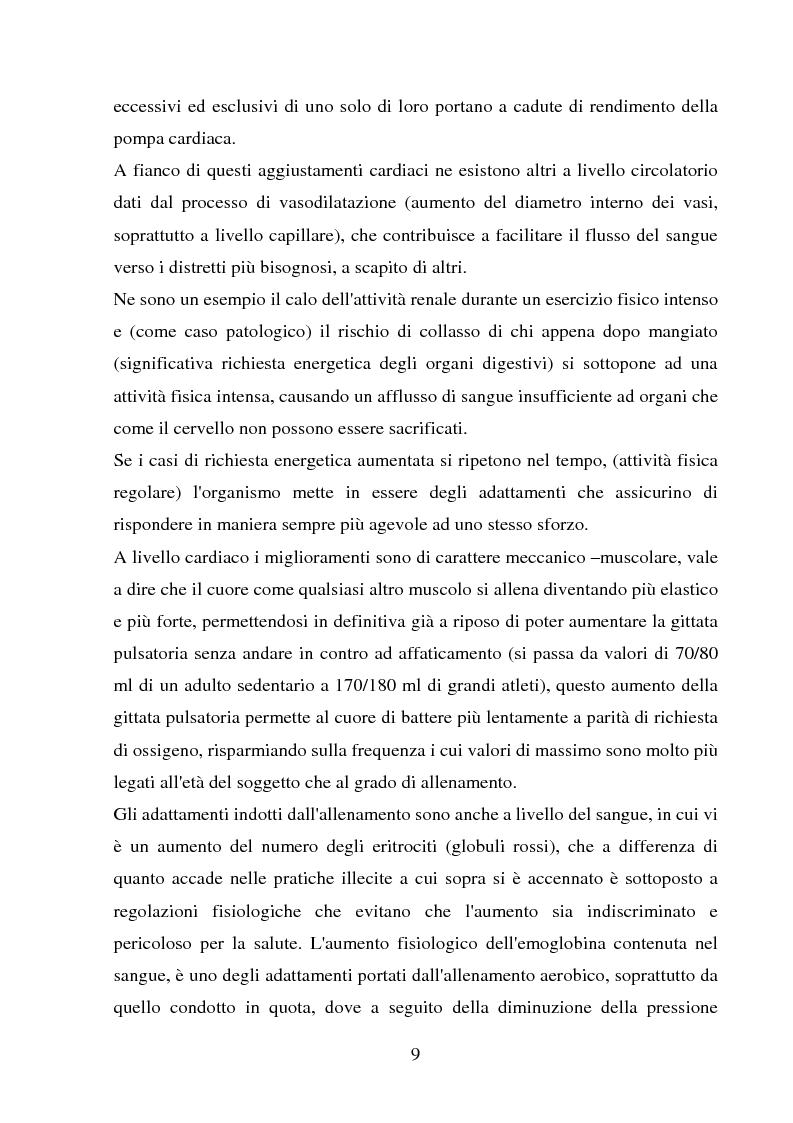 Anteprima della tesi: Il follow-up pluriennale delle caratteristiche fisiologiche in un soggetto in atletica leggera, Pagina 9