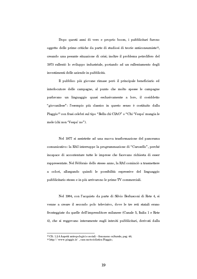 Anteprima della tesi: Nuove strategie di comunicazione nel campo pubblicitario: il caso Armando Testa, Pagina 14