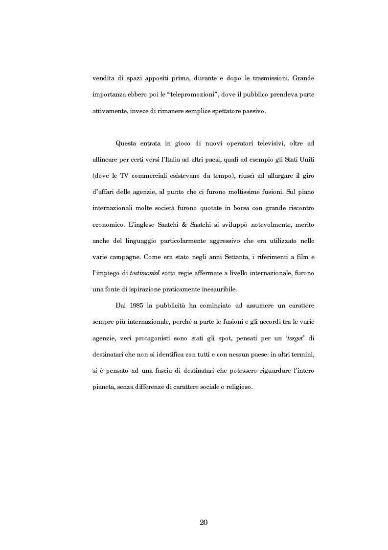 Anteprima della tesi: Nuove strategie di comunicazione nel campo pubblicitario: il caso Armando Testa, Pagina 15