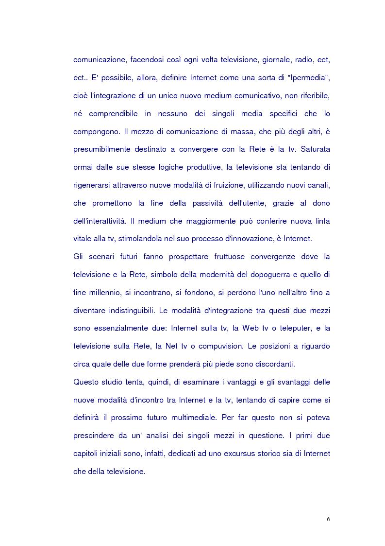 Anteprima della tesi: Net-tv: una proposta di convergenza multimediale, Pagina 2