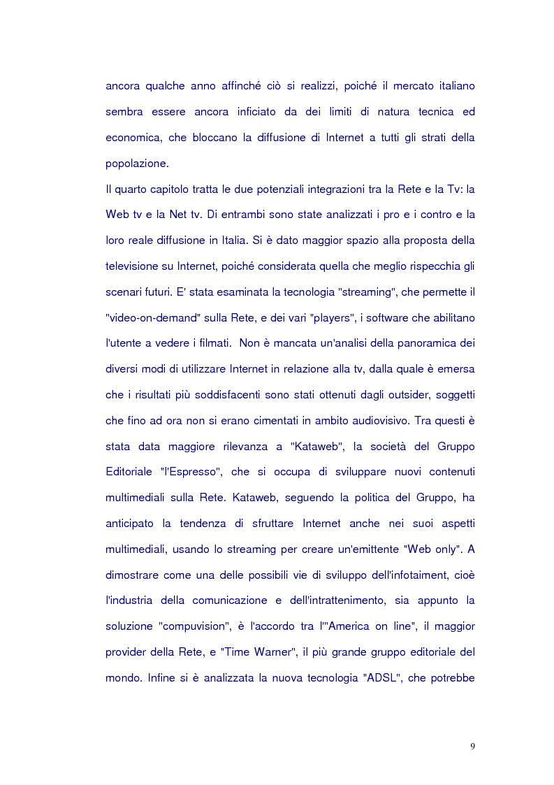 Anteprima della tesi: Net-tv: una proposta di convergenza multimediale, Pagina 5