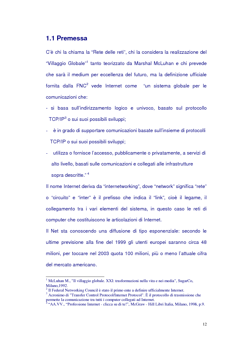 Anteprima della tesi: Net-tv: una proposta di convergenza multimediale, Pagina 8