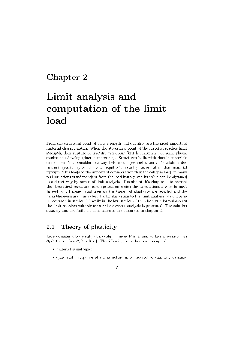 Anteprima della tesi: Post Critical Behaviour of Shells: a Sequential Limit Analysis Approach, Pagina 6