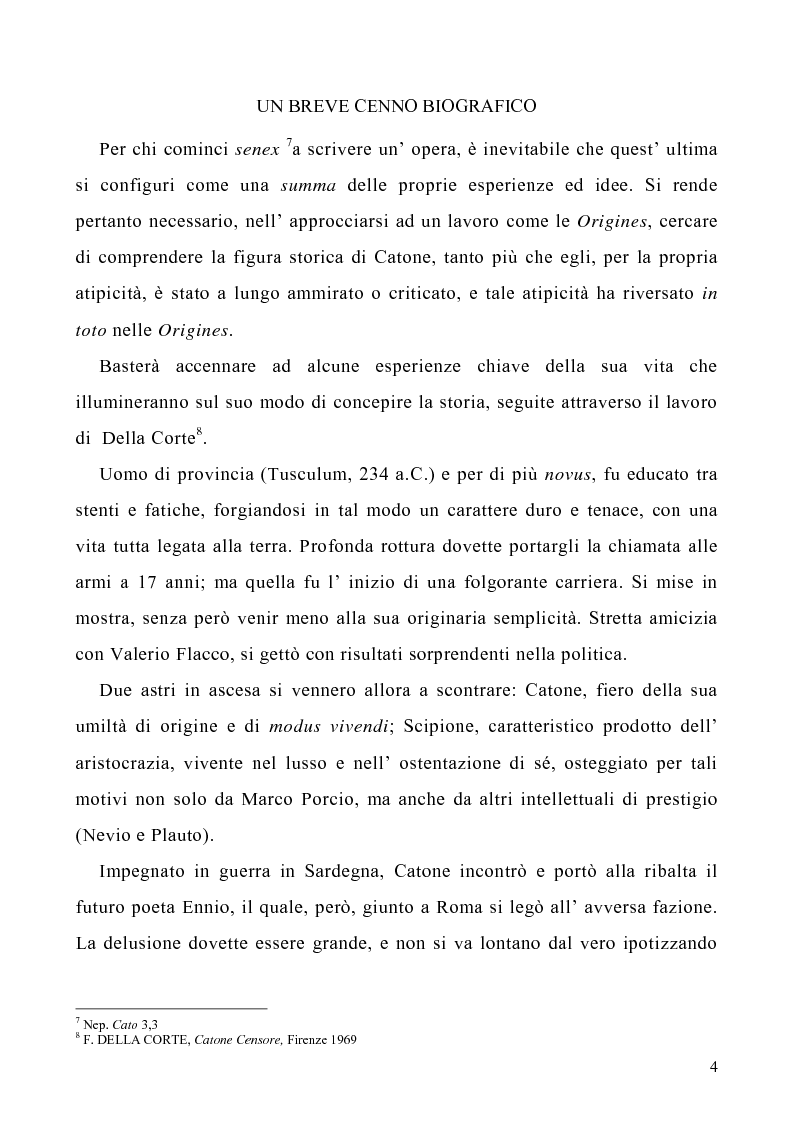 Anteprima della tesi: I libri I-IV delle Origines di Catone, Pagina 1