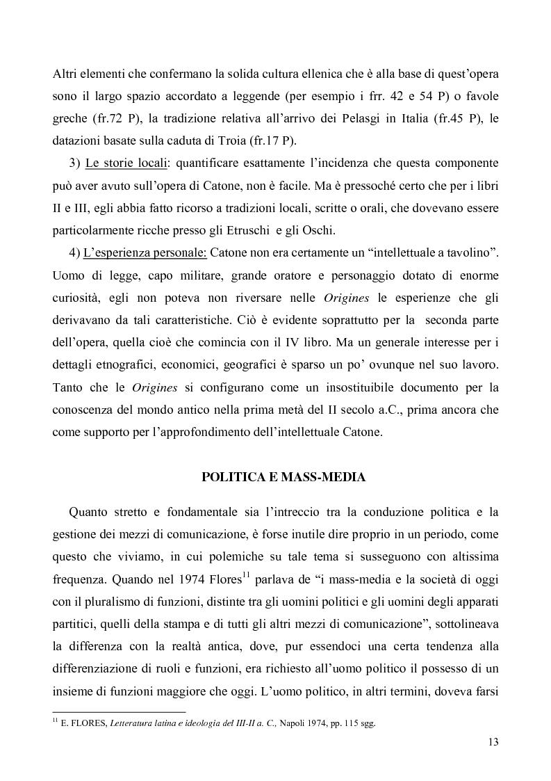 Anteprima della tesi: I libri I-IV delle Origines di Catone, Pagina 10