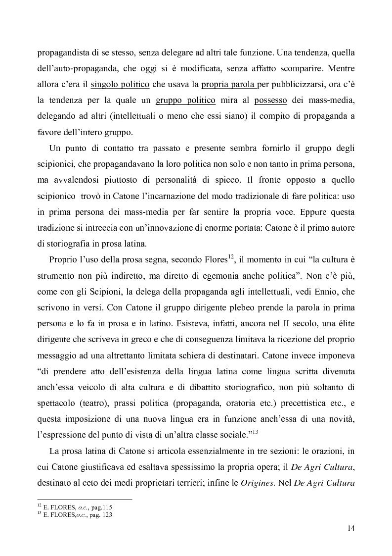 Anteprima della tesi: I libri I-IV delle Origines di Catone, Pagina 11