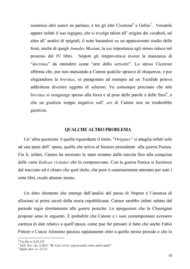Anteprima della tesi: I libri I-IV delle Origines di Catone, Pagina 7