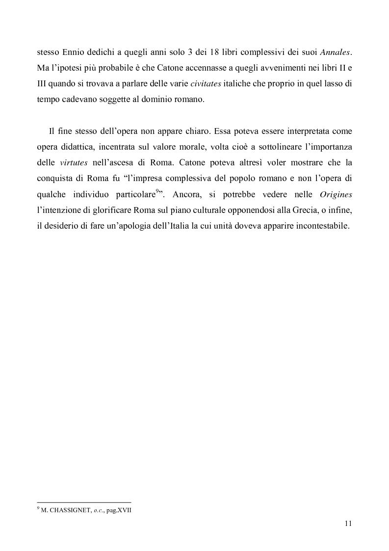 Anteprima della tesi: I libri I-IV delle Origines di Catone, Pagina 8