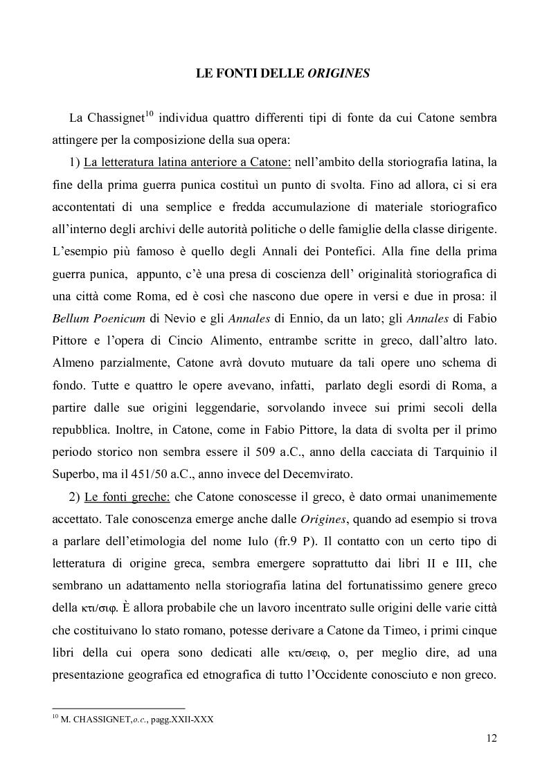 Anteprima della tesi: I libri I-IV delle Origines di Catone, Pagina 9