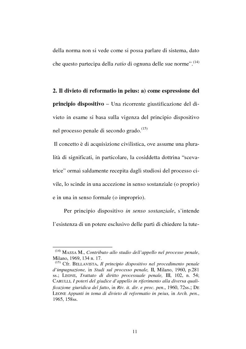 Anteprima della tesi: Il divieto di reformatio in peius nel processo penale, Pagina 11