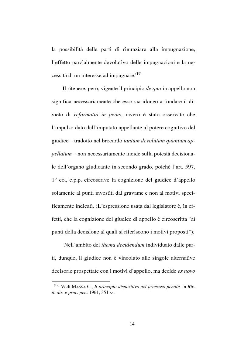 Anteprima della tesi: Il divieto di reformatio in peius nel processo penale, Pagina 14