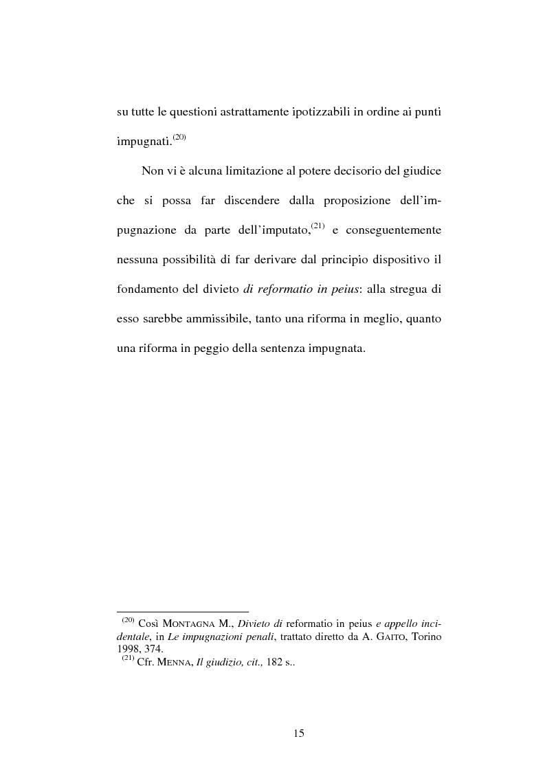 Anteprima della tesi: Il divieto di reformatio in peius nel processo penale, Pagina 15