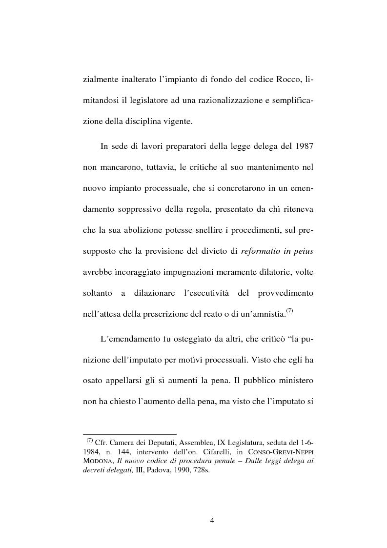Anteprima della tesi: Il divieto di reformatio in peius nel processo penale, Pagina 4
