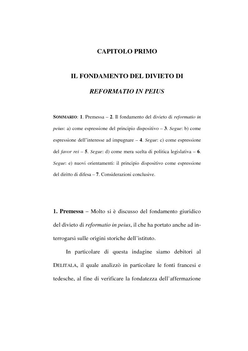 Anteprima della tesi: Il divieto di reformatio in peius nel processo penale, Pagina 7