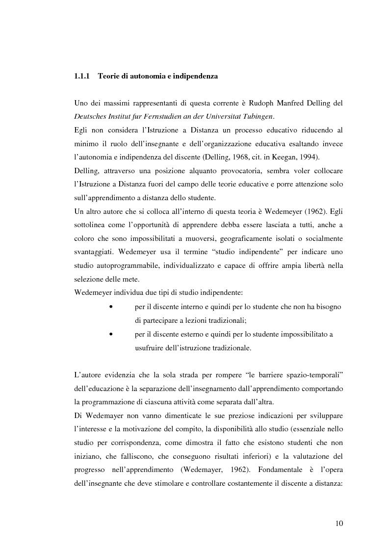 Anteprima della tesi: L'e-learning e i gruppi virtuali, Pagina 10