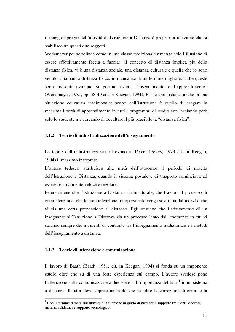 Anteprima della tesi: L'e-learning e i gruppi virtuali, Pagina 11