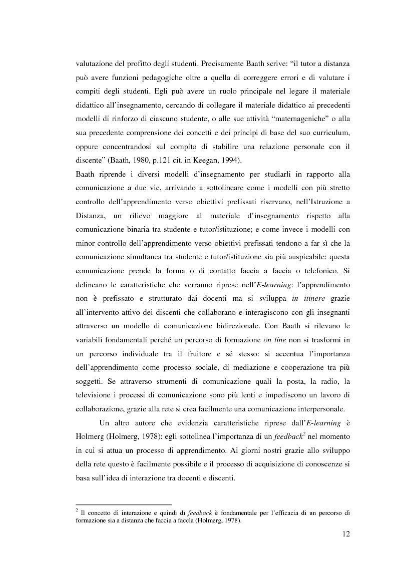 Anteprima della tesi: L'e-learning e i gruppi virtuali, Pagina 12