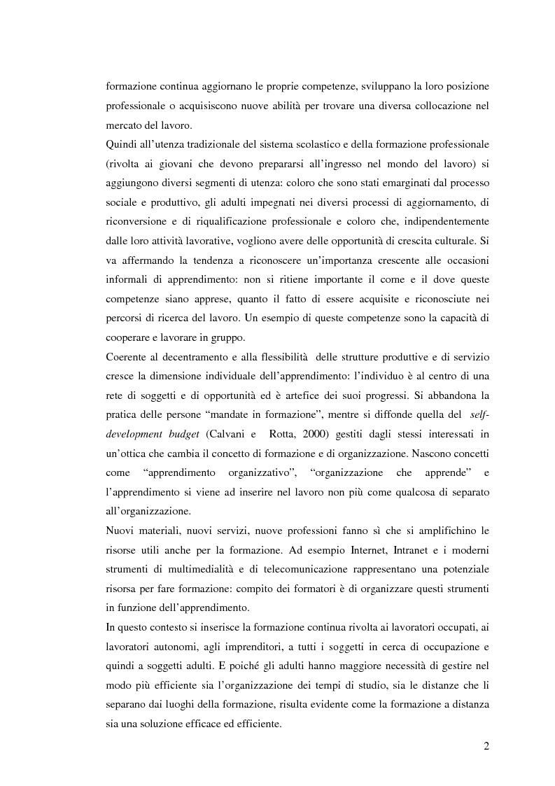 Anteprima della tesi: L'e-learning e i gruppi virtuali, Pagina 2