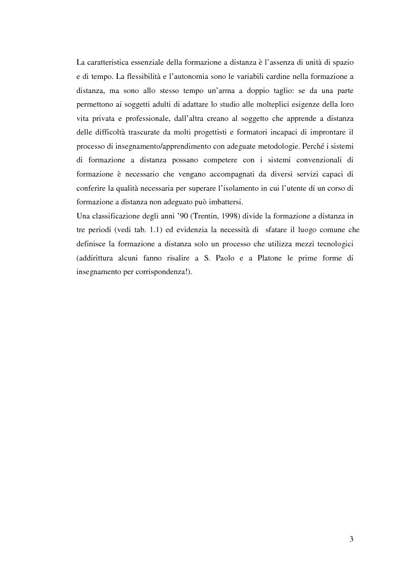 Anteprima della tesi: L'e-learning e i gruppi virtuali, Pagina 3
