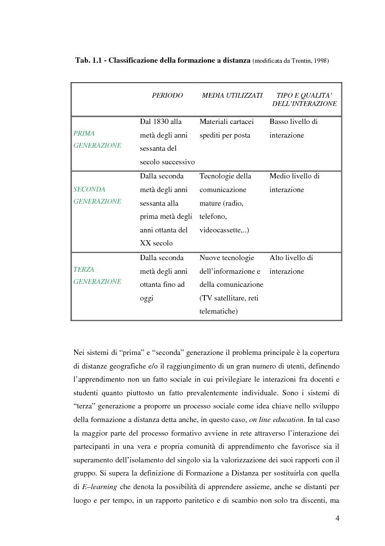 Anteprima della tesi: L'e-learning e i gruppi virtuali, Pagina 4