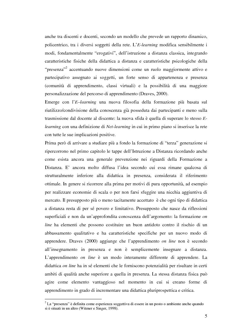 Anteprima della tesi: L'e-learning e i gruppi virtuali, Pagina 5