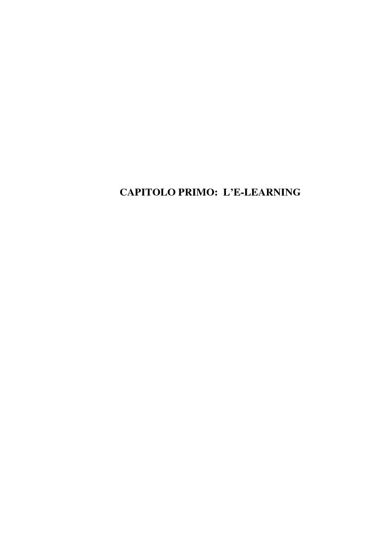 Anteprima della tesi: L'e-learning e i gruppi virtuali, Pagina 7
