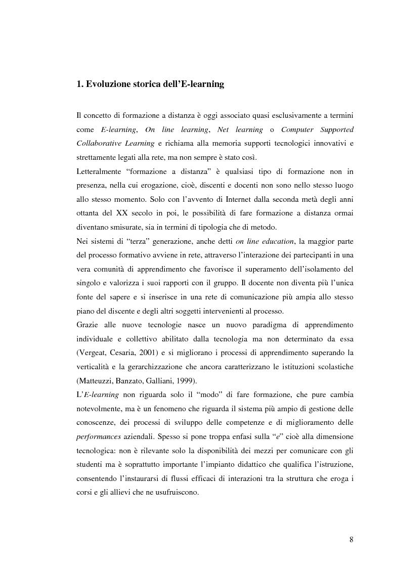 Anteprima della tesi: L'e-learning e i gruppi virtuali, Pagina 8