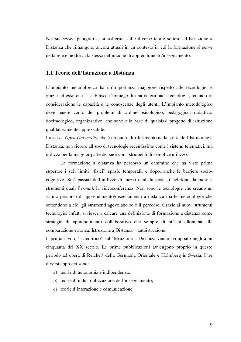 Anteprima della tesi: L'e-learning e i gruppi virtuali, Pagina 9