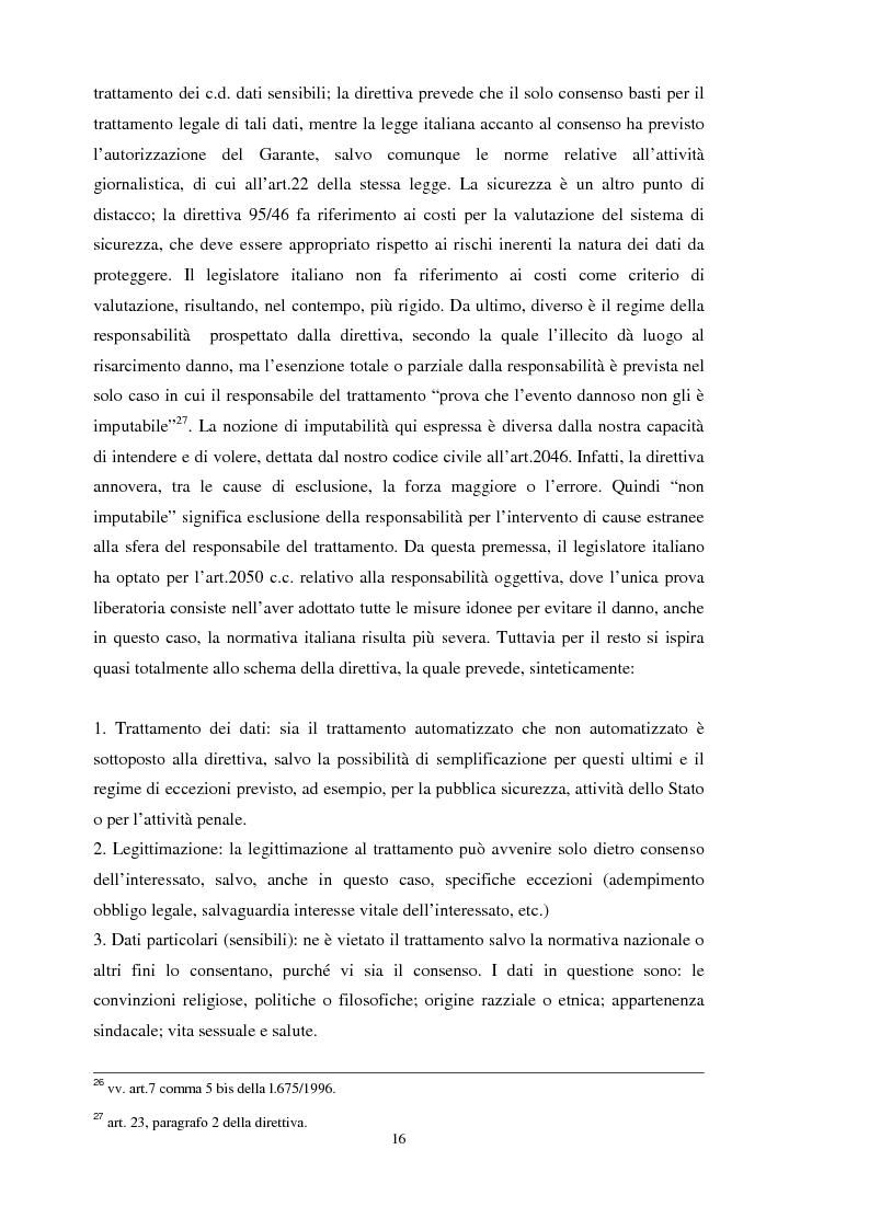 Anteprima della tesi: La tutela dei dati personali su Internet, Pagina 10